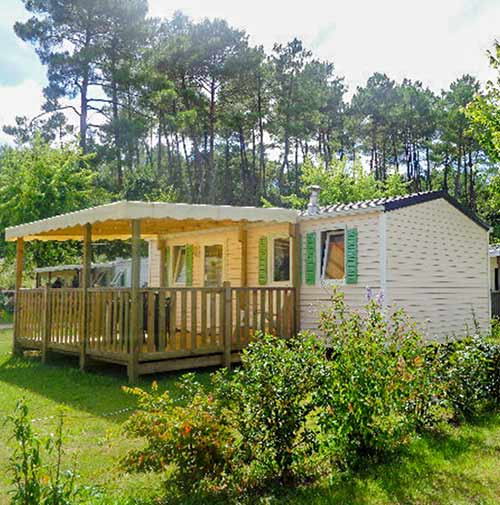 location mobil-home camping Landes