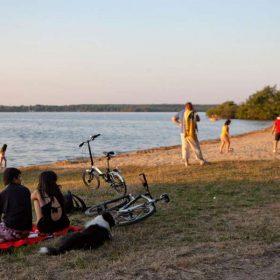 Camping lac Landes