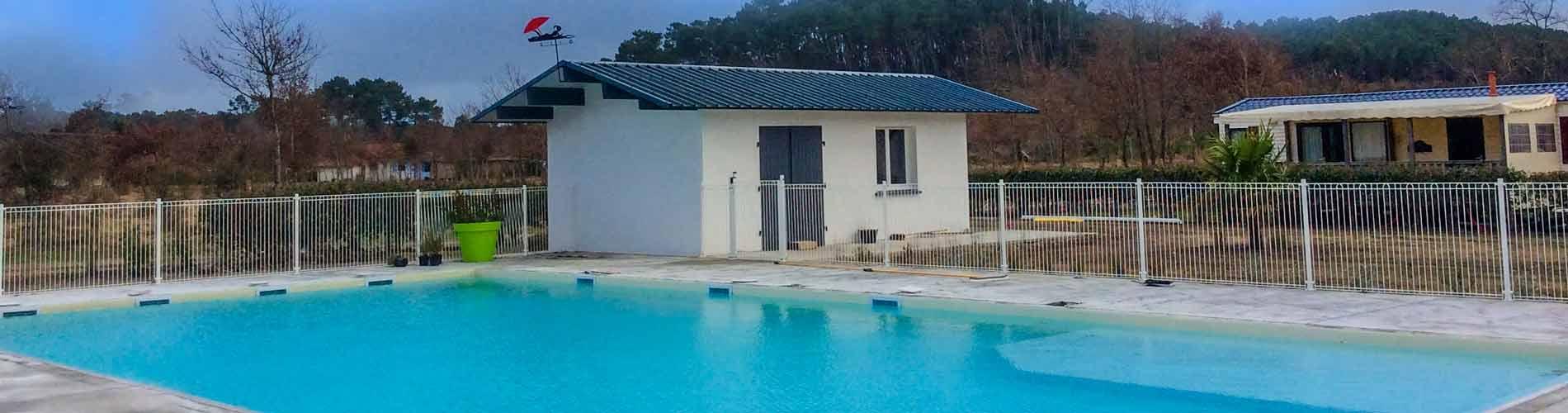 Camping avec piscine landes espace aquatique camping for Camping arcachon avec piscine