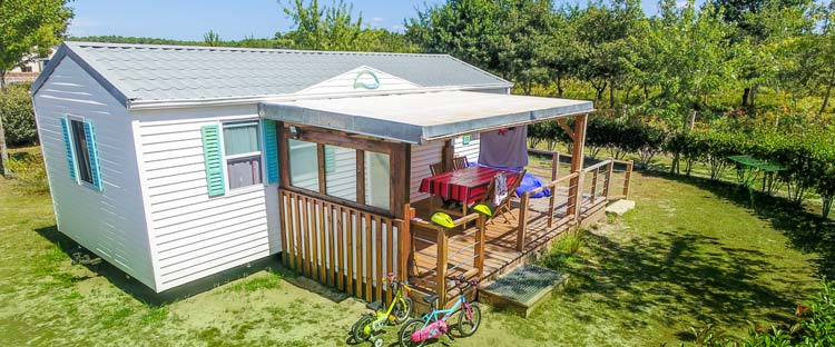 camping mobil-home location landes