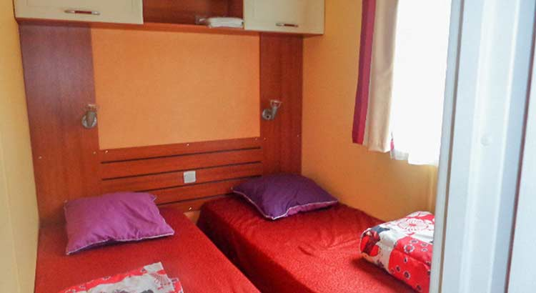 Mobil-home 3 chambres camping Landes