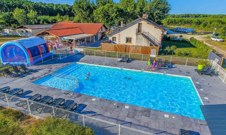 camping location avec piscine landes